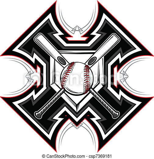 Baseball Softball Bats Graphic Vect - csp7369181