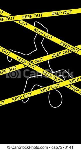 crime scene - csp7370141