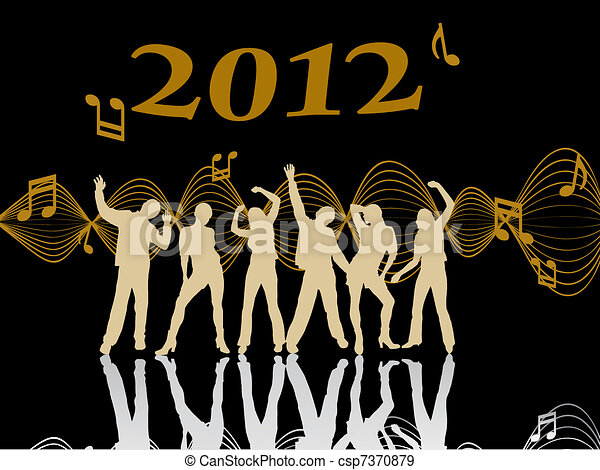 new years eve 2012 - csp7370879