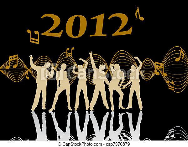new years eve 2012 - csp7370879