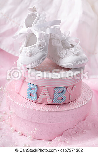 Little baby booties - csp7371362