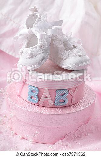 Little baby booties  - csp7371362