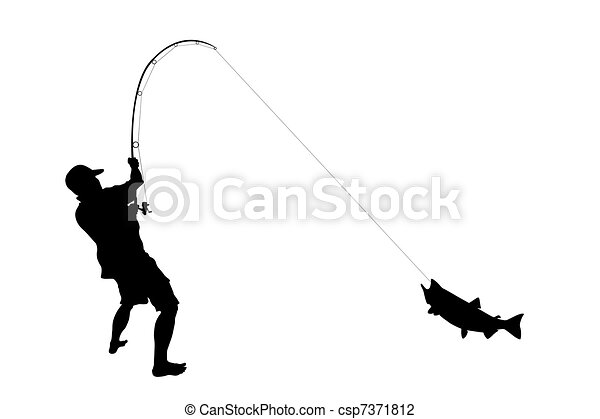 The fisherman with the caught fish - csp7371812