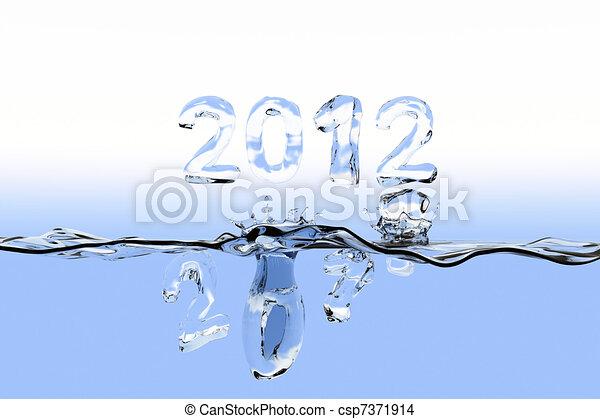 End of year splash 2011 - csp7371914