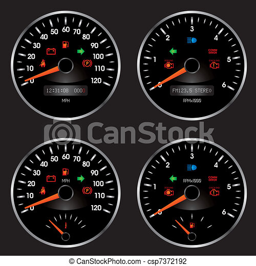 Racing Car Speedometer - csp7372192