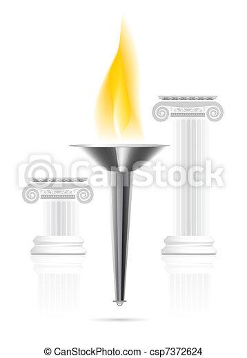 Dessin de olympique torche flamme olympic torche - Flamme olympique dessin ...