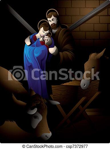 Nativity scene. - csp7372977