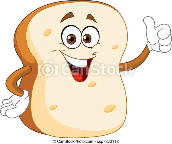 Bread slice cartoon - csp7373112