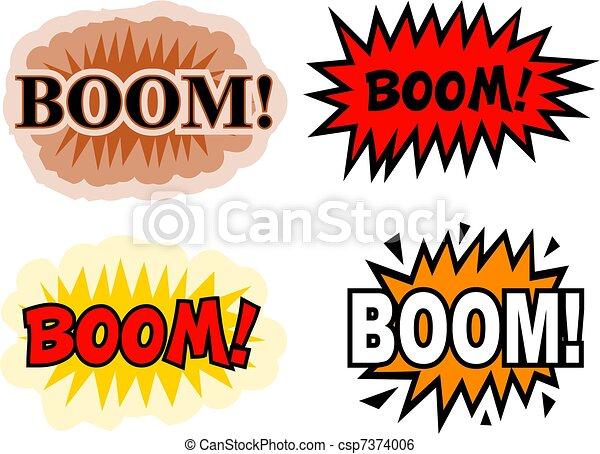 Illustration de boom a collection de comique livre - Boom dessin anime ...