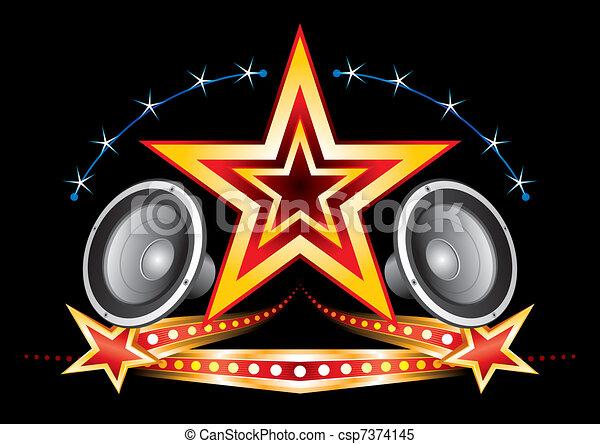 Music neon - csp7374145