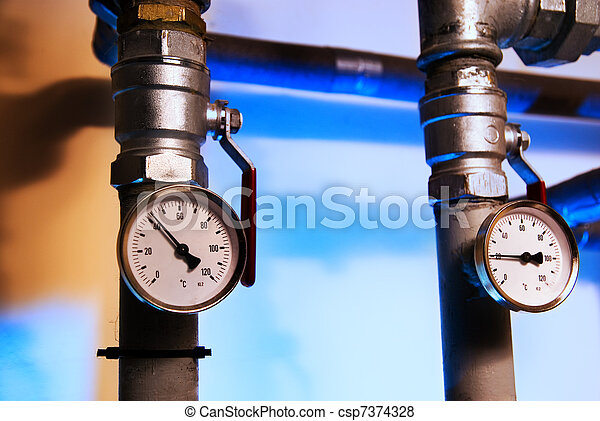 Metal pipes with indicators - csp7374328