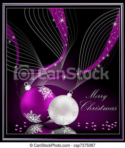 Violet Christmas background  - csp7375087