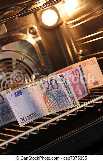 Money in the stove - csp7375335