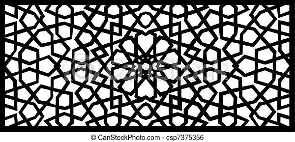 arabesque design element - csp7375356
