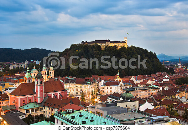 Ljubljana, capital of Slovenia - csp7375604