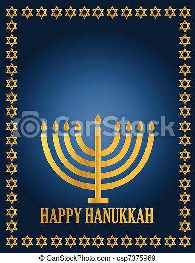 Hanukah Design illustration card - csp7375969