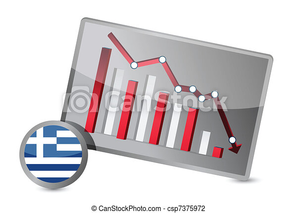 greece suffering crisis graph - csp7375972