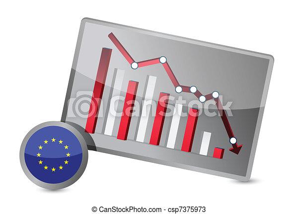 European union suffering crisis  - csp7375973