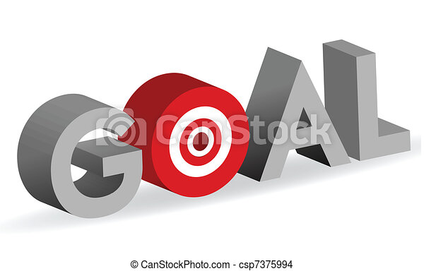 Goal word with bullseye target sign - csp7375994