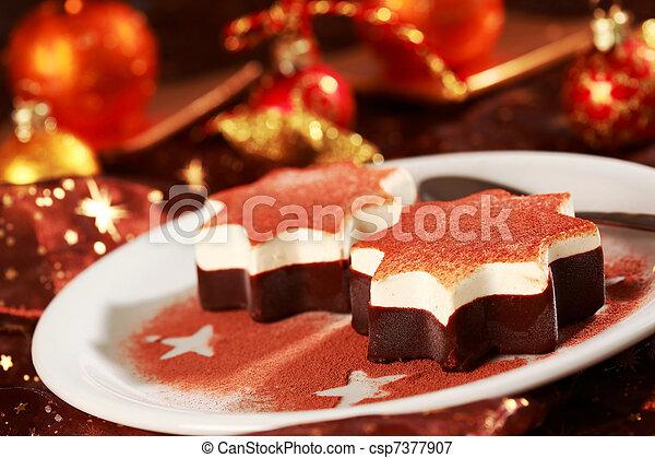 bilder von nachtisch weihnachten nachtisch als weihnachten stern csp7377907 suchen. Black Bedroom Furniture Sets. Home Design Ideas