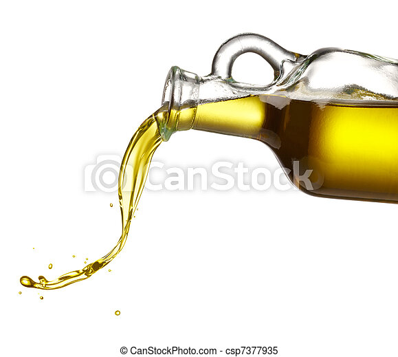 pouring olive oil - csp7377935