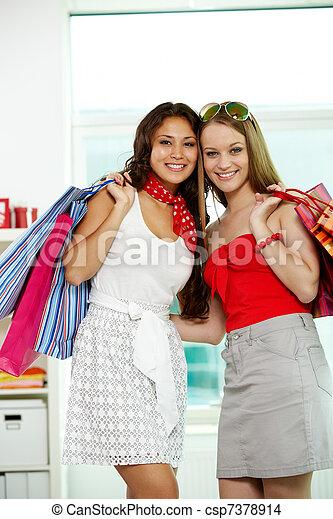 Glamorous shopaholics - csp7378914