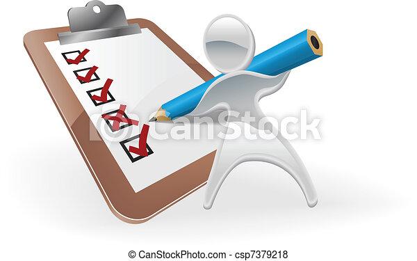 Metallic mascot survey feedback concept - csp7379218