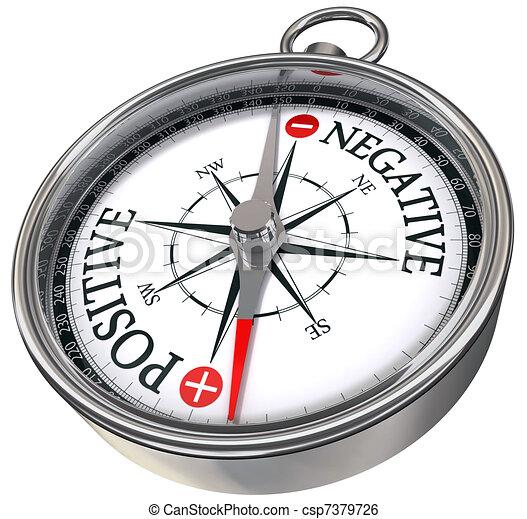 positive negative concept compass  - csp7379726