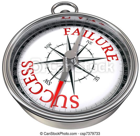 success versus failure compass - csp7379733