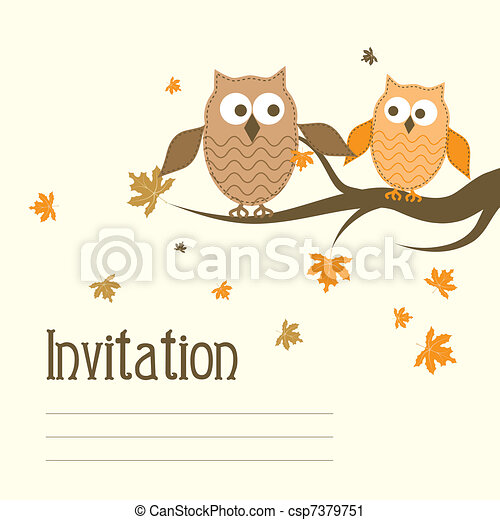 Template greeting card, vector - csp7379751