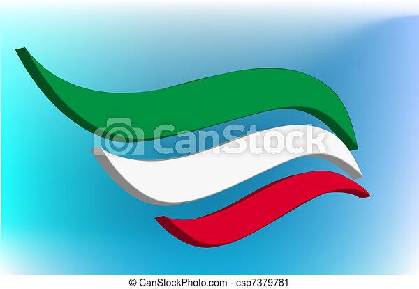 Italian flag  - csp7379781