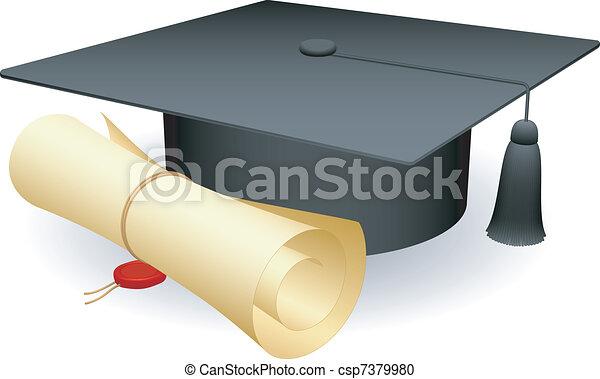 Graduation cap. - csp7379980