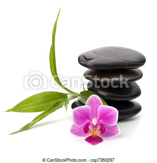 Zen pebbles balance. Spa and healthcare concept. - csp7380297