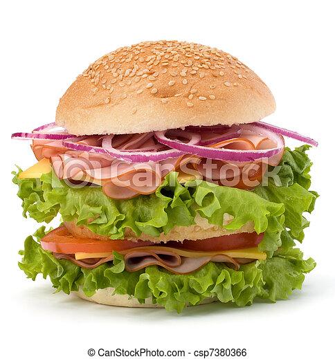 Junk food hamburger - csp7380366