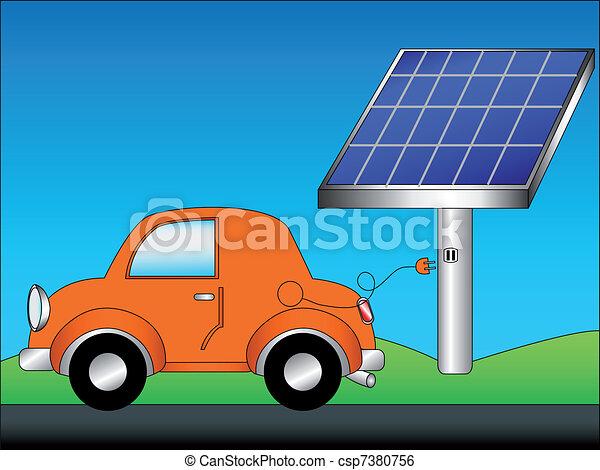 ... verde, energía, fuente, solar, paneles, copia, espacio, azul, cielo