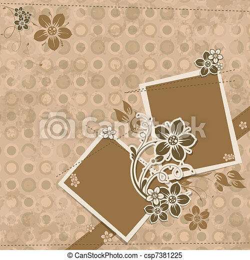 Template scrap card, vector - csp7381225