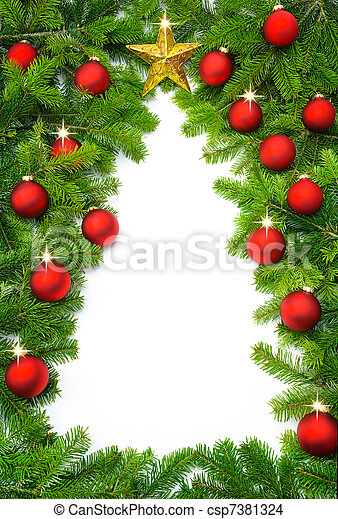 Creative Christmas tree border - csp7381324