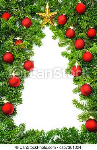 Creative Christmas tree border - csp7381324