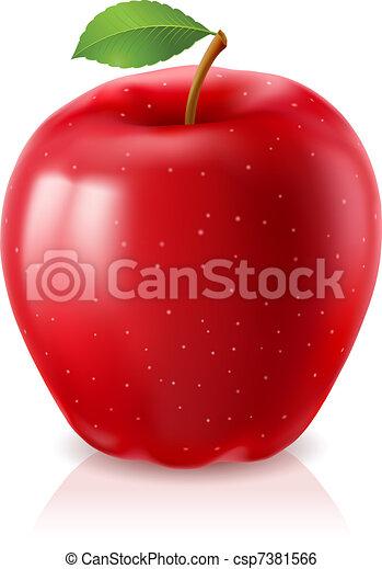 Ripe red apple - csp7381566