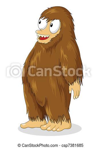Hairy Creature - csp7381685