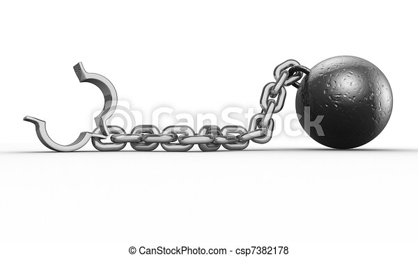 Ball with chain - csp7382178
