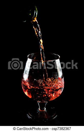 Image de verre cognac glass de cognac sur arri re for Plan de cognac