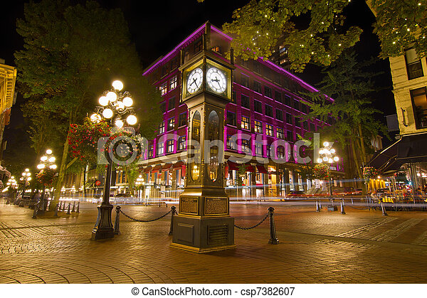 Historic Steam Clock in Gastown Vancouver BC - csp7382607