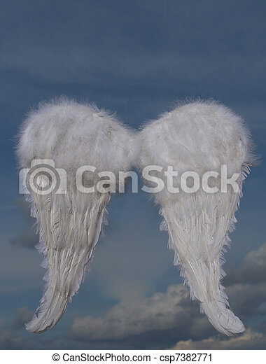 christmas holiday angel wings - csp7382771