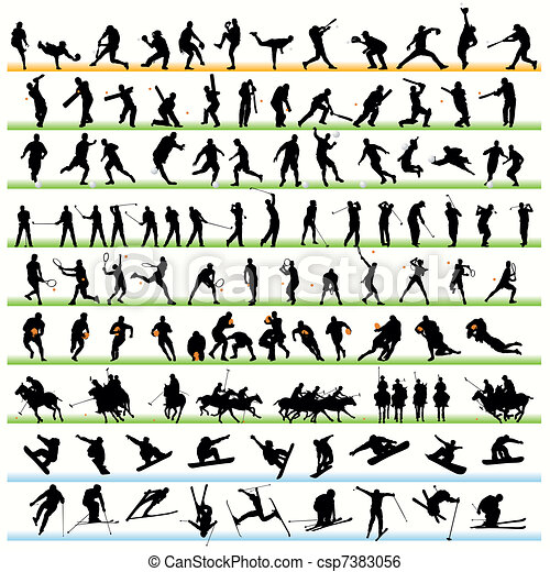 116 Sport Silhouettes Set - csp7383056