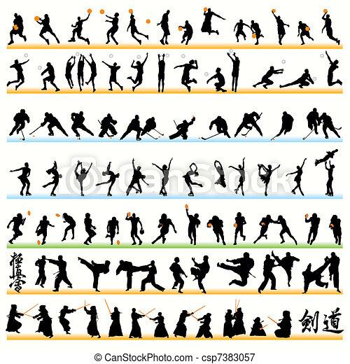90 Sport Silhouettes Set - csp7383057