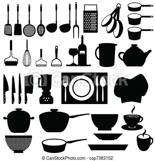 Kitchen utensils and tools - csp7383152
