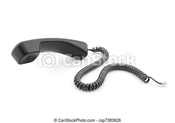 Black phone handset - csp7383626