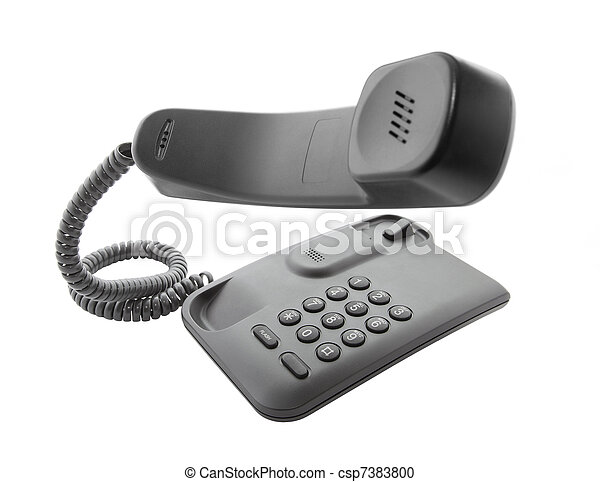Black phone with floating handset - csp7383800