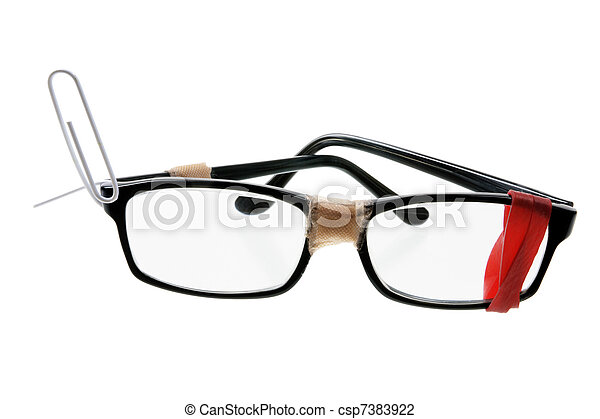 Broken Eyeglasses - csp7383922